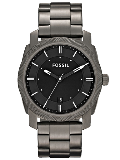 Fossil Men's Machine Analog Display Analog Quartz Grey Watch-FS4774