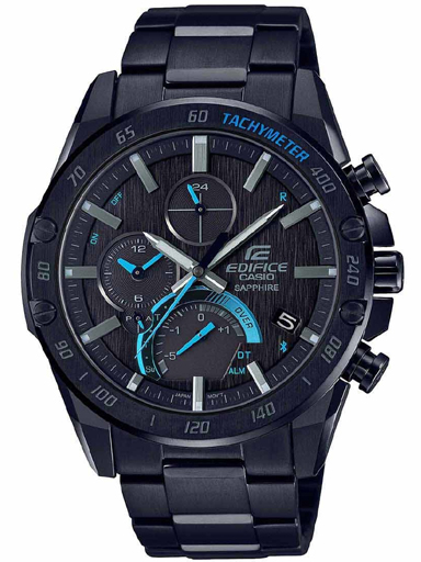 casio edifice eqb-1000xdc-1adr (ed501) slim sapphire bluetooth connect men's watch-ED501