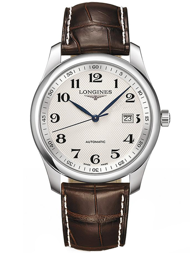 longines master automatic silver dial brown leather watch-L2.793.4.78.3