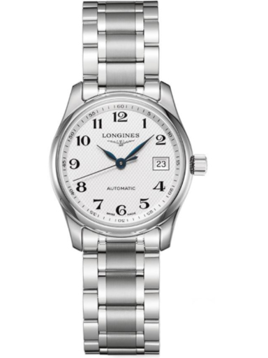 longines master collection automatic white dial stainless steel ladies watch-L2.257.4.78.6