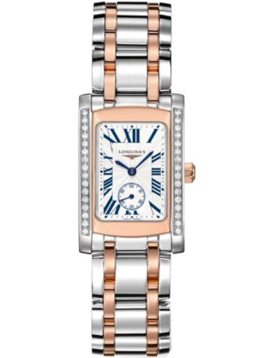 longines dolce vita diamond stainless steel and rose gold ladies watch-L5.155.5.79.7