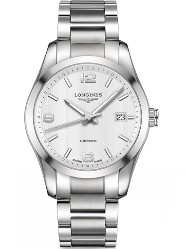 longines conquest silver dial stainless steel men's watch l27854766-L2.785.4.76.6