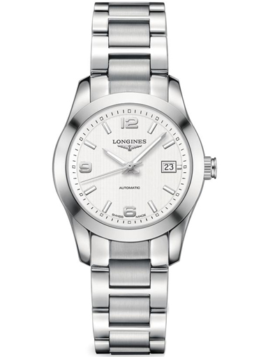 longines conquest classic automatic silver dial stainless steel ladies watch l22854766-L2.285.4.76.6