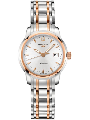 longines saint-imier silver dial automatic ladies watch-L2.563.5.72.7