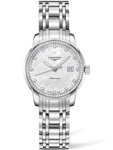longines saint imier mother of pearl stainless steel ladies watch-L2.563.0.87.6