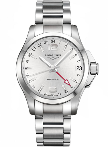 Longines Sport Conquest Stainless Steel Men's Watch-L3.687.4.76.6