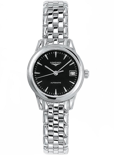 longines flagship automatic black dial ladies watch-L4.274.4.52.6