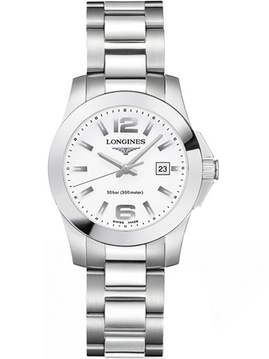 longines conquest stainless steel ladies watch-L3.277.4.16.6