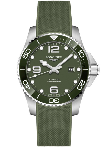 Longines Hydro Conquest Green Dial Stainless Steel Men's Watch L37824069-L3.782.4.06.9