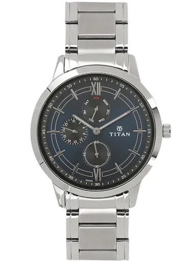 titan neo multi-function blue dial stainless steel strap watch 1769sm01-1769SM01