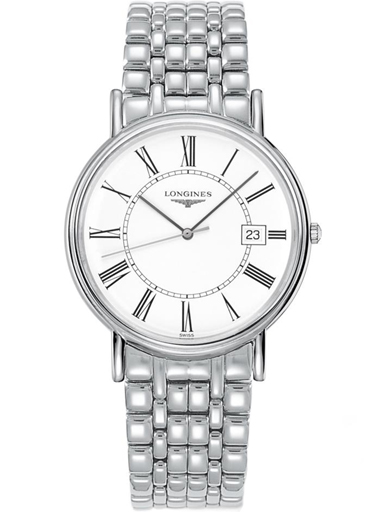 longines la grande classique de presence white dial steel men watch-L4.790.4.11.6