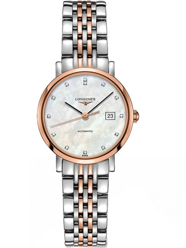 Longines Elegant Automatic 29 mm Stainless Steel Watch For Ladies-L4.310.5.87.7