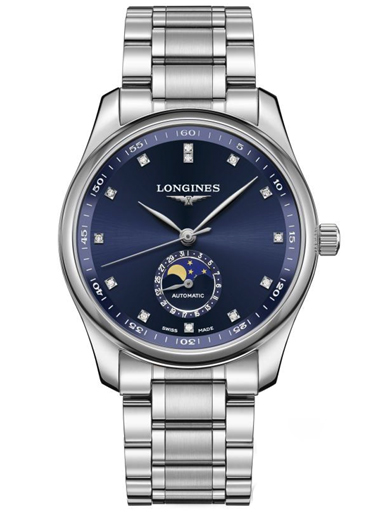 longines master collection date chronograph automatic blue dial men's watch-L2.909.4.97.6