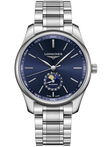 longines master moonphase automatic 42 mm men's watch-L2.919.4.92.6