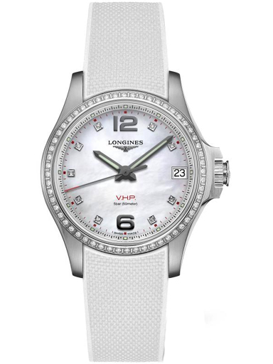 longines conquest v.h.p. quartz diamond ladies watch l33160879-L3.316.0.87.9
