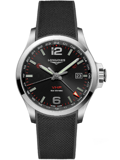 longines conquest v.h.p. gmt 43 mm watch for men-L3.728.4.56.9