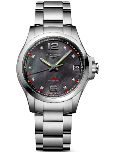 longines conquest v.h.p. 36 mm watch for women's-L3.316.4.88.6