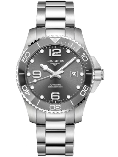 longines hydro conquest automatic 43 mm watch for men's-L3.782.4.76.6