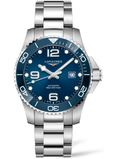 longines hydro conquest automatic stainless steel 43 mm men's watch-L3.782.4.96.6