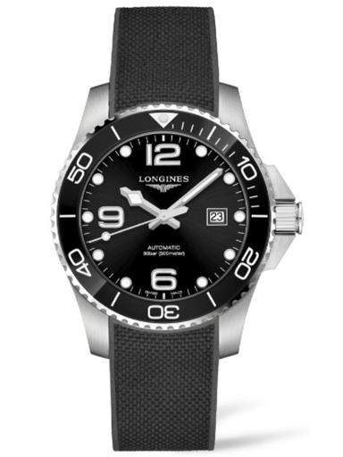 Longines Hydro Conquest Black Dial Automatic Men's Watch-L3.782.4.56.9