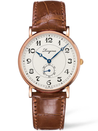 longines presence heritage automatic 18 kt gold mens watch-L4.785.8.73.2