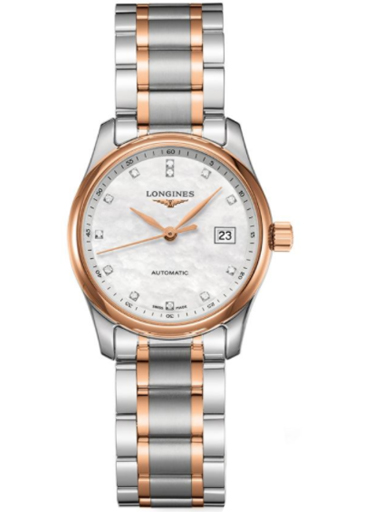 longines master collection automatic mop diamond dial ladies watch-L2.257.5.89.7