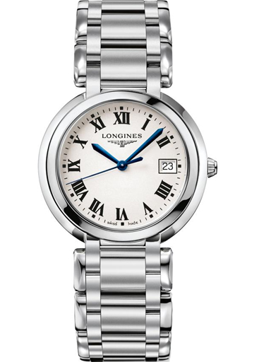 longines primaluna white dial stainless steel women's watch-L8.114.4.71.6