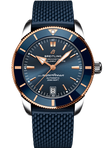 Breitling Superocean Heritage B20 Automatic 42 Stainless Steel & 18k Red Gold - Blue Watch-UB2010161C1S1