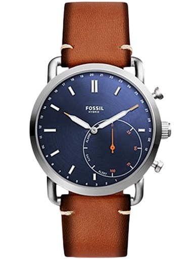 fossil hybrid smartwatch commuter luggage leather watch ftw1151-FTW1151