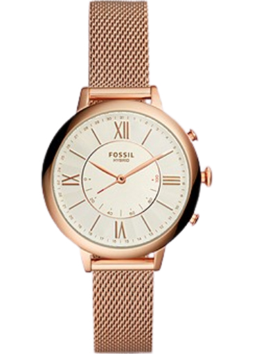 fossil hybrid smartwatch jacqueline rose gold tone stainless steel strap watch ftw5018-FTW5018