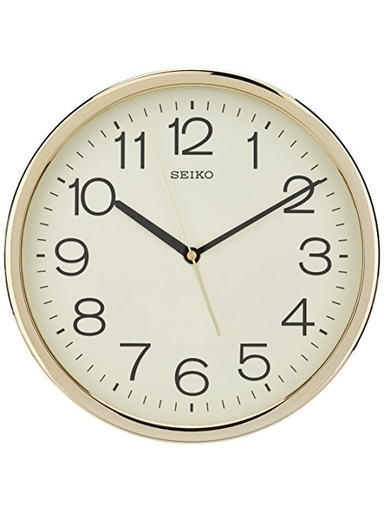 Seiko Plastic Case Wall Clock (Gold, QXA014AT)-QXA014AT