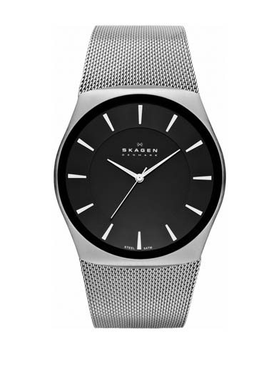 Skagen Men's Havene Quartz Stainless Steel Silver Watch-SKW6019