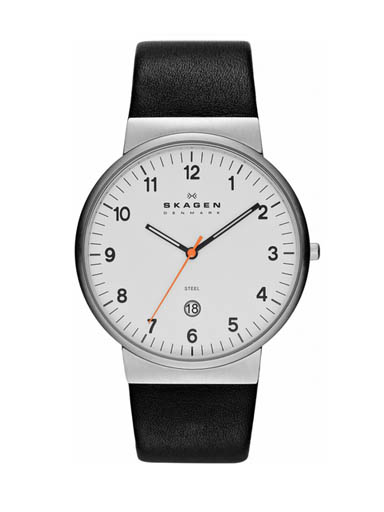 Skagen Ancher Men's Leather Watch-SKW6024