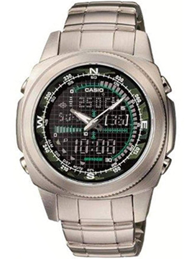 casio enticer analog green dial men's watch - amw-707d-1avdf (a314)-A314