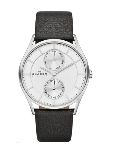 Skagen Men's Quartz Multi Stainless Steel Silver Dial Watch-SKW6065