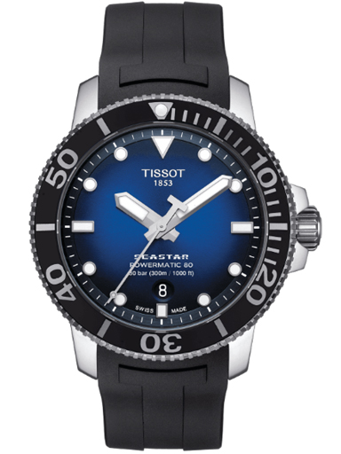 Tissot Seastar 1000 Powermatic 80 Blue Gradient Men's Watch-T120.407.17.041.00