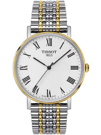 tissot everytime medium stainless steel silver dial unisex watch-T109.410.22.033.00
