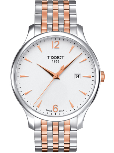 Tissot Tradition Silver Dial Stainless Steel Men's Quartz Watch-T063.610.22.037.01