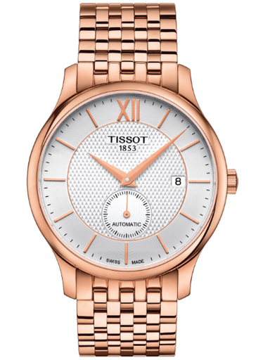 Tissot Tradition Automatic Small Second Silver Dial Watch For Men's-T063.428.33.038.00