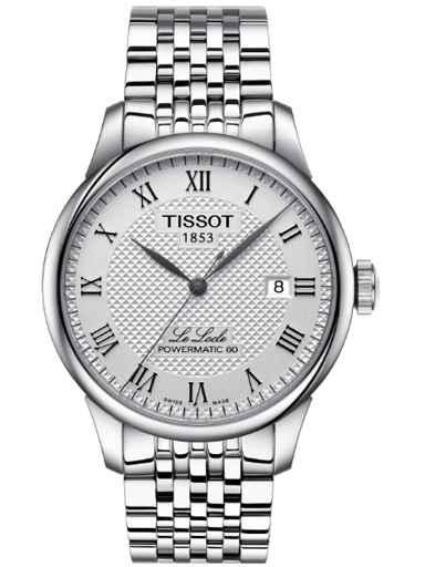 Tissot Le Locle Powermatic 80 Automatic Silver Dial Men's Watch-T006.407.11.033.00