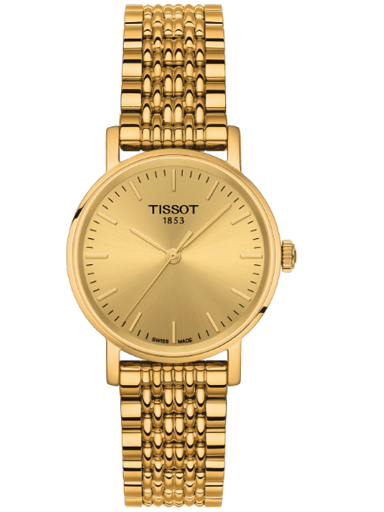 tissot everytime small quartz champagne dial women's watch-T109.210.33.021.00