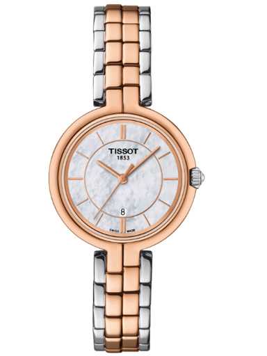 Tissot T-Lady Flamingo White MOP Dial Watch For Women's-T094.210.22.111.00