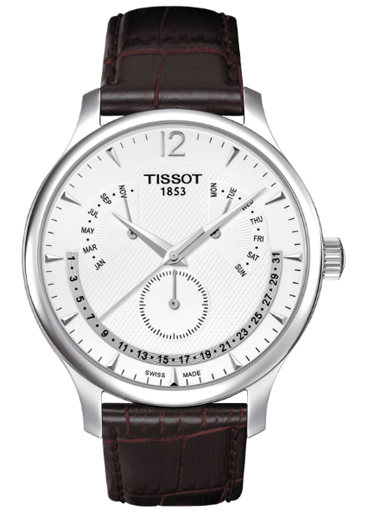 Tissot T Classic Tradition Perpetual Calendar Silver Dial Men's Watch-T063.637.16.037.00