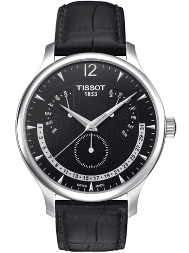 Tissot T Classic Tradition Black Dial Watch-T063.637.16.057.00