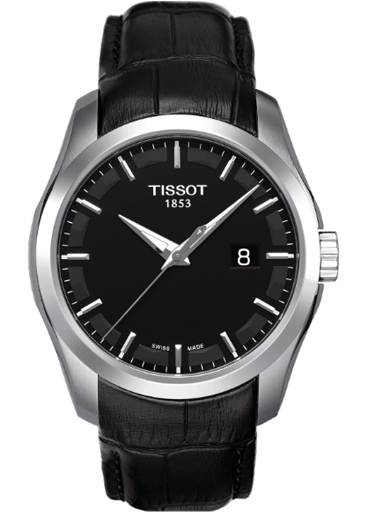 Tissot T-Classic Couturier Men's Black Dial Watch-T035.410.16.051.00
