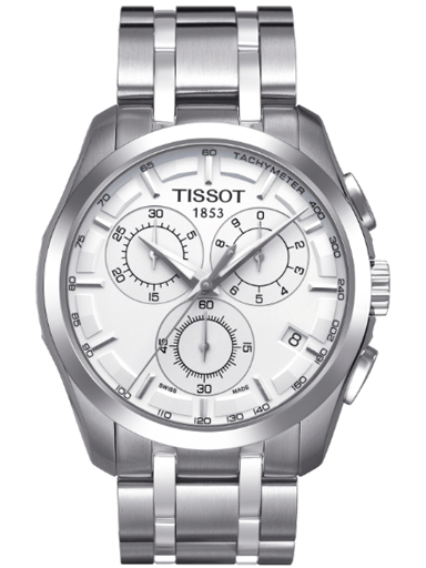Tissot Couturier Chronograph Silver Dial Men's Watch-T035.617.11.031.00