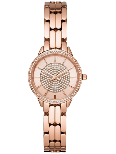michael kors women allie rose gold dial stainless steel analogue watch-MK4413I