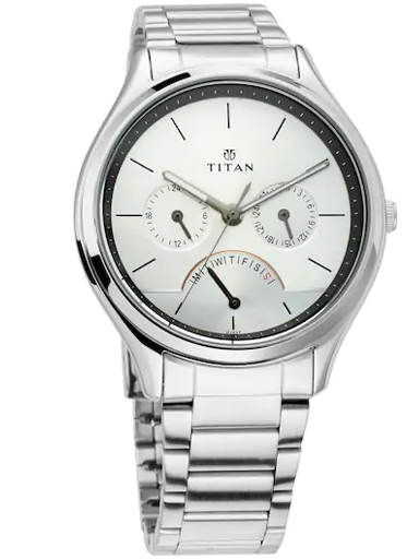 titan neo analog silver dial men's watch-NM1803SM01
