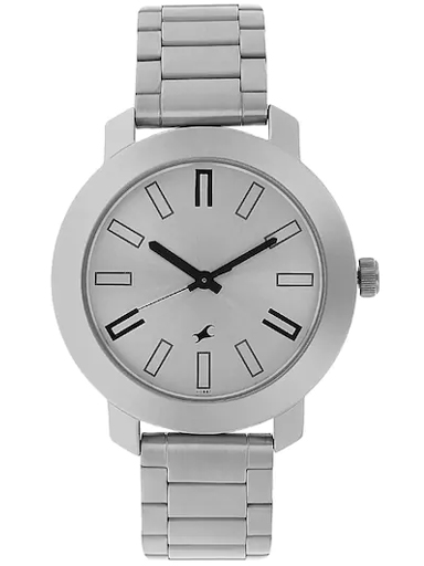 Fastrack Casual Analog Silver Dial Men's Watch-NM3120SM01