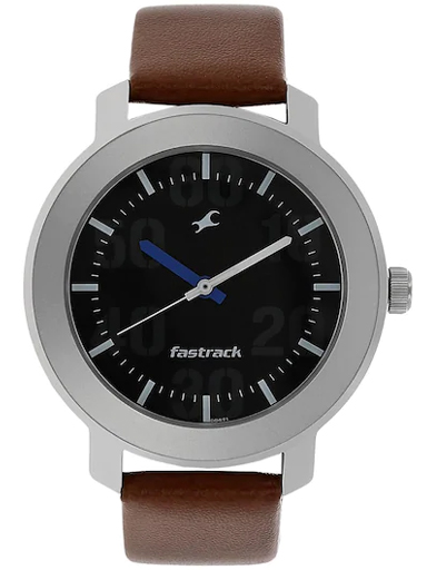 fastrack casual analog black dial men's watch-NM3121SL01